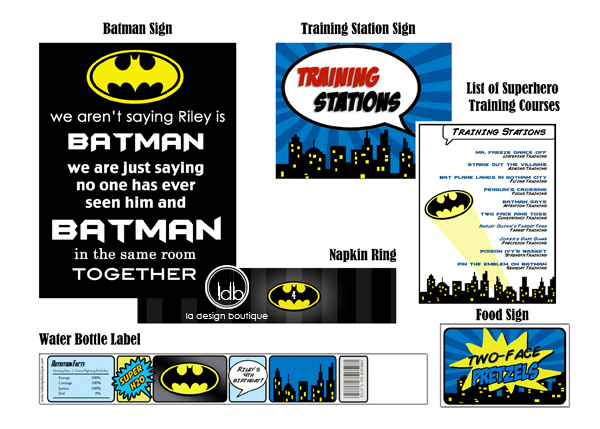 Complete Batman Birthday Package